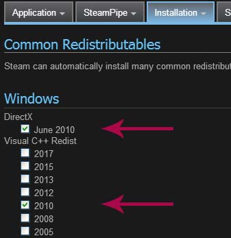 steamworks common redistributables in library